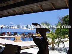 Pool Side at Helengeli Island Resort Maldives Hotel. A Family Holiday place