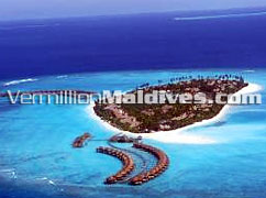 Aerial Image picture of the five star Noonu Atol Hilton Maldives Hotel Irufushi Maldives