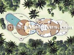 Beach Pool Villa Floor Plan – Accommodations in Maldives Family Resort Hilton Maldives Irufushi