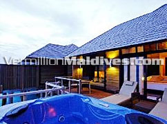 Horizon Water Villa in Hilton Irufushi Maldives. Find this luxury vacations place from Hilton through Vermillion