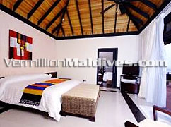 Infinity Water Villa with Your own private pool at Hilton Maldives Irufushi Resort. A Honeymoon Holiday suite