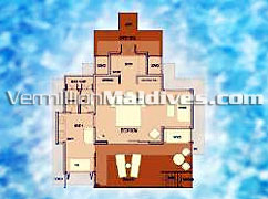 Irufushi Water Villa Floor Plan: A 5 Star Deluxe hotel of Maldives