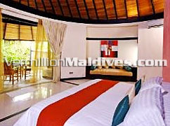 Pool Beach Villa accommodation in Hilton Irufushi – Best Deals online for your Maldives Vacation