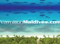 The Island of Hilton Maldives Iru fushi Resort and Spa – Lagoon dotted with Reef Spots