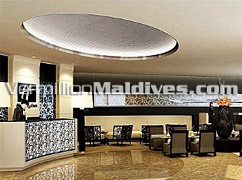 Lobby area of the five star Hotel in Male – Holiday Inn Male is in the Capital of Maldives