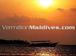 Sunset in Male' - Holiday Inn Maldives give you the chance to see the magnificent side of life in Maldives