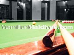 Billiard and snooker at Holiday Island Resort Maldives. Touch & play