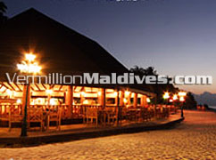 Buffet's are served at the ain Restaurant of Holiday Island Resort Maldives