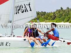Catamaran Sailing during your Maldives Vacation