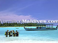 Beautiful Maldives Hotel lagoon. Holiday Island Resort & SPA