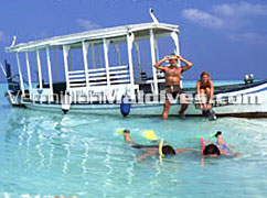 Snorkeling and different activities offer at Holiday Island