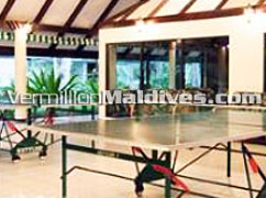 Table Tennis & other activities available at Holiday Island Maldives Resort