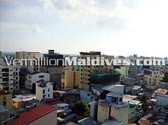 Male' the capital of Maldives and where Hotel Fresco is