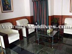 Lobby area of Hotel Relax Inn in Maldives – Your Male' Hotel in Maldives