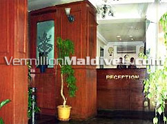 Reception area of Hotel Relax Inn - Overnight in Male' the Capital of Maldives