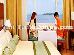 Enjoy a Meal in your room of Hulhule Island Hotel – Overnight stay for your Honeymoon
