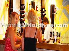 Enjoy different types of wines and Cocktails in Hulhule Island Hotel of the Maldives