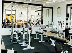 Fully equipped gymnasium in the Airport Hotel of Maldives