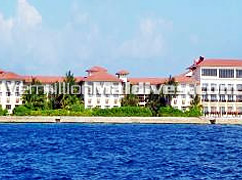 Hulhule Island Hotel as seen from a Distance