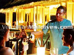 Dining at Huvafenfushi Maldives island resort