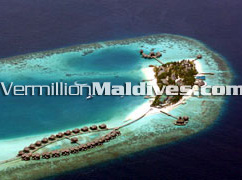 Aerial Photo of North Male Altoll Maldives Resort Huvafenfushi