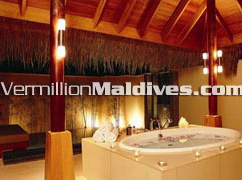 Private Jacuzzi at Maldives 5 star Delxue Resort Huvafenfushi