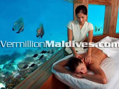 The only resort with under water spa. A Maldives 5 star Spa resort