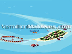 Island Map of Huvafenfushi: 5 Star Deluxe resorts of Maldives
