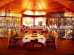 Wine Celler at Huvafenfushi Island Hotel Resort Maldives