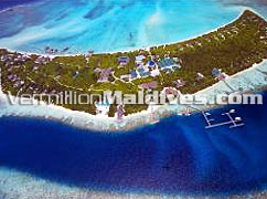 Aerial image of Island Hideaway Resort Hotel Maldives at Dhonakulhi Island
