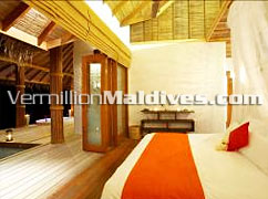 Bedroom of Hideaway Water Suite – Stylish and comfortable