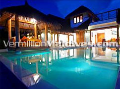 Exterior view & Pool of Jasmine Garden Villa - Maldives Luxury Hotels Resorts