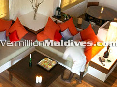 Living Room of Dhonakulhi Residence – Feel your self at home