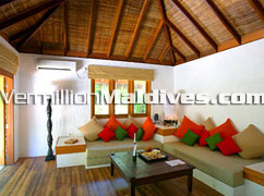 Raamba Retreat Living Area - Island Hideaway Maldives Hotels at Dhonakuli –Resorts in Haa Alifu Atoll
