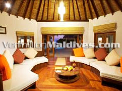 Living Area of Hideaway Palace - Island Hideaway Resort Hotel at Dhonakulhi Maldives