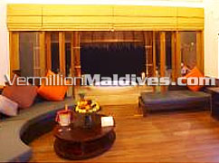 Living Room: Hideaway Water Suites – Luxury Maldives accommodations packages