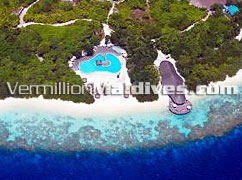 Swimming Pools Aerial View - Island Hideaway at Dhonakulhi Maldives Hotel and marina