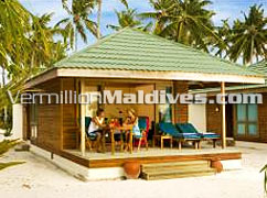 Beach Villas Accommodations at J resort Handhufushi Hotel Maldives