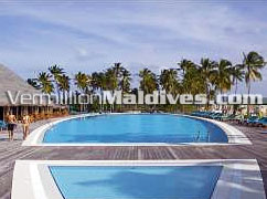 Pool Area of J Resort Hotel Handhufushi Maldives