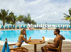 Poolside of Handhufushi – Herethera Maldives Resort