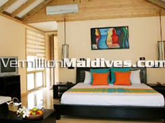 Handhu fushi at Herathera Island Beach Villa Accommodation inside