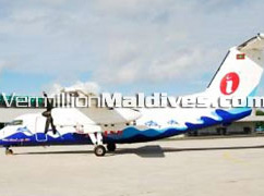 Domestic Plane that transfers you from Male' to Gan Island