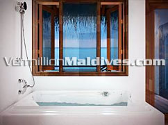 Bath Room of the Luxury Lagoon Suites – Raalhuveli Maldives Beach Holiday Resort