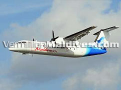Maldivian Plane flight that operates. A wonderful chance to see the jewels of the ocean