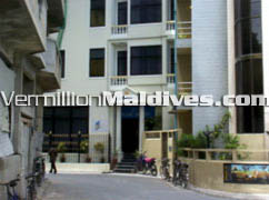 Kam Hotel in Male' is in the centre in between 2 other hotels