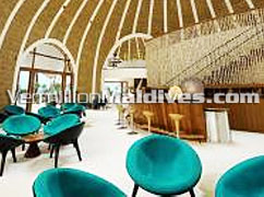 Beautiful bar & lounge of Kandooma Maldives beach resort hotel