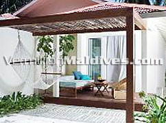 Get a booking in this beautiful Beach Villa at HolidayInn Resort Kandooma Maldives