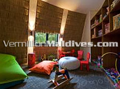 Good for kids & family. Kids chill Room in Resort HolidayInn Resort Kandooma Maldives