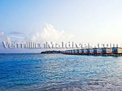 HolidayInn Resort Kandooma Maldives, water Villa accommodations are at affordable rates