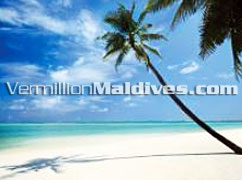 Beautiful white sandy beaches of the island Kanuhura Maldives